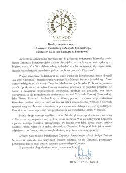 Czytaj więcej: List Biskupa Tarnowskiego do Parafialnego...